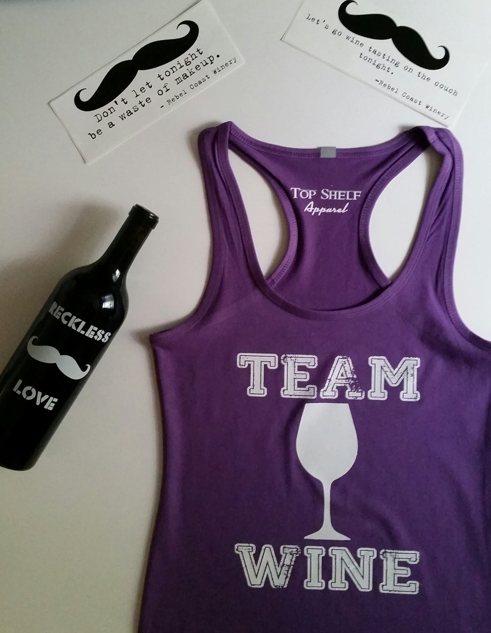 Image of TEAM WINE racerbacks