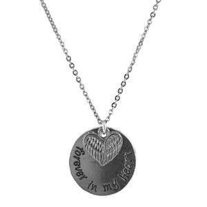 Image of Forever In My Heart Angel Wings Necklace