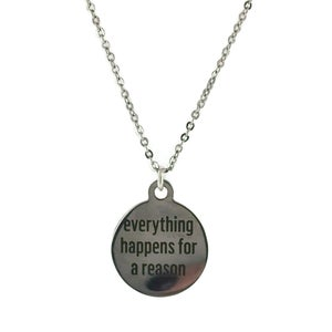 Image of Everything Happens For A Reason Token Necklace