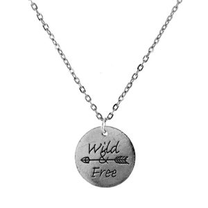 Image of Wild and Free Token Charm Necklace
