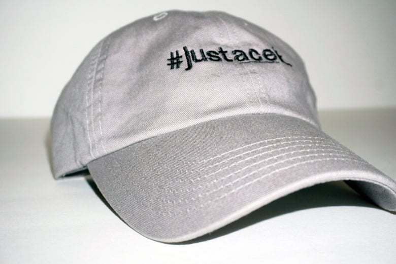 Image of #justaceit Hat - Grey