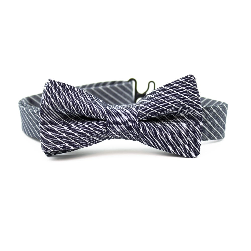 Image of Engineer Stripe Kids Bow Tie