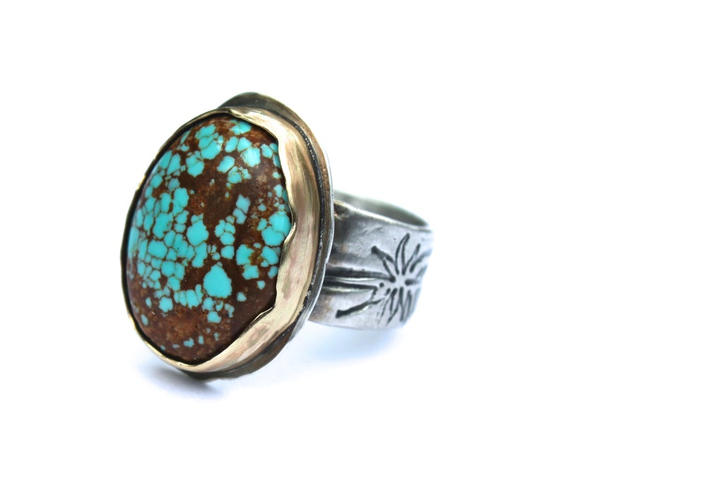 Image of number 8 turquoise ring