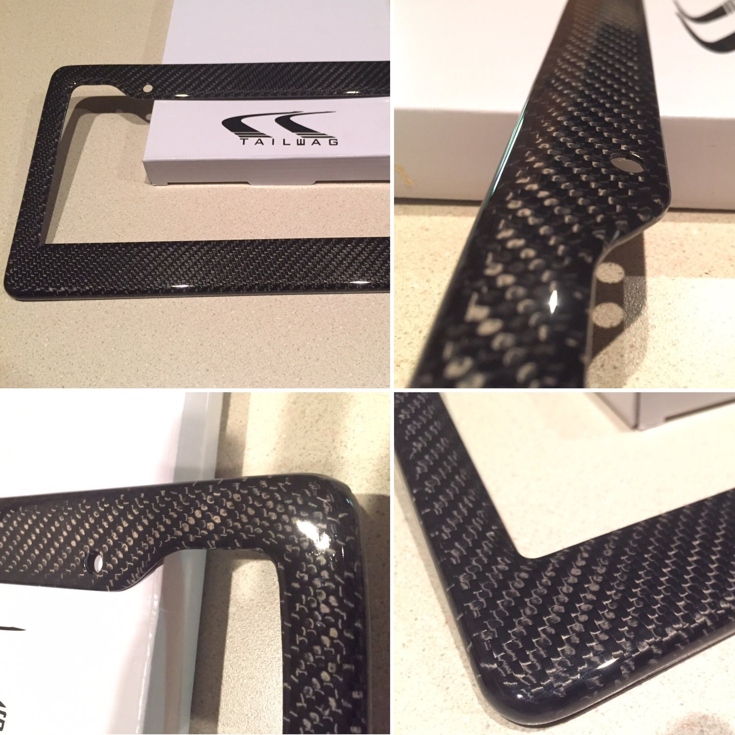 Image of Tailwag Carbon Fiber License Plate Frame