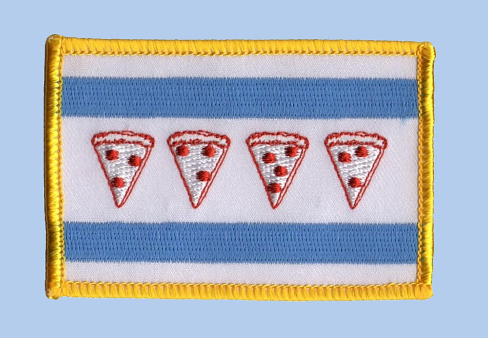 Image of Chicago Pizza Flag