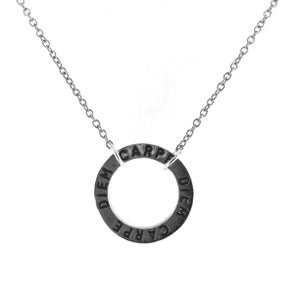 Image of Carpe Diem, Sieze the day, Token Charm Necklace