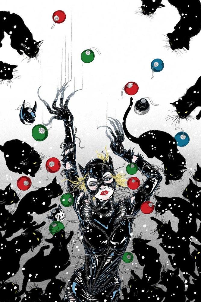 Image of BATMAN RETURNS CATWOMAN limited edition large silkscreen print