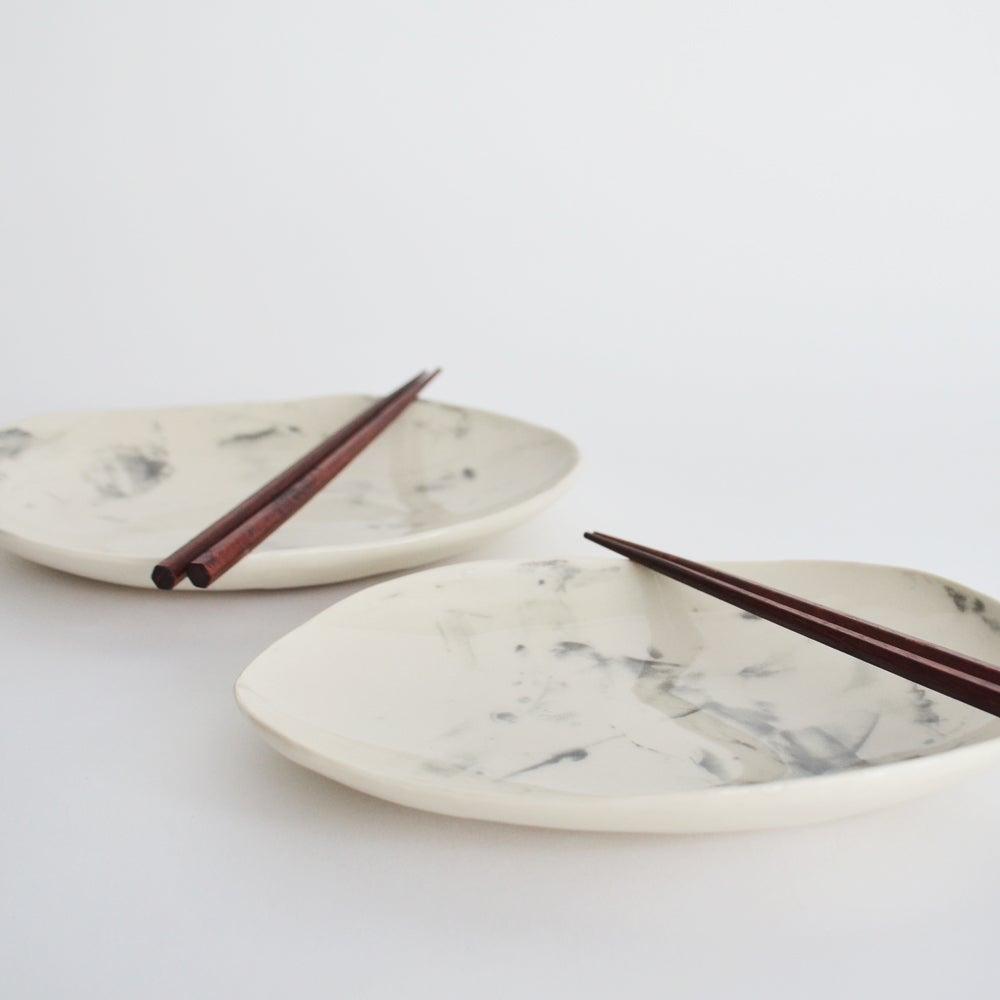 Image of porcelain appetizer plate