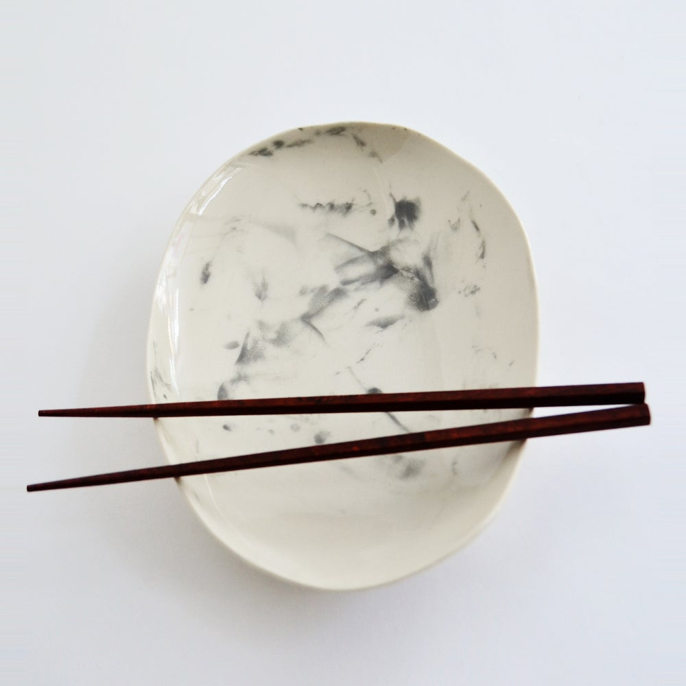 Image of porcelain appetizer plate