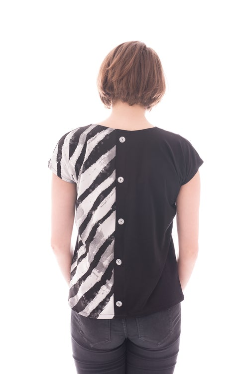 Image of Shirt BATARA black/white