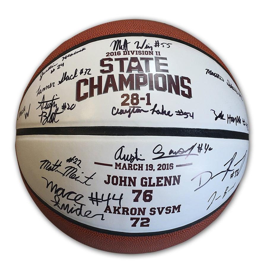 Image of John Glenn Muskies // 2016 State Champions (Autographed Basketball)
