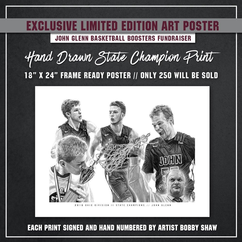Image of John Glenn Muskies // 2016 State Champions (Hand-Drawn Poster Print)