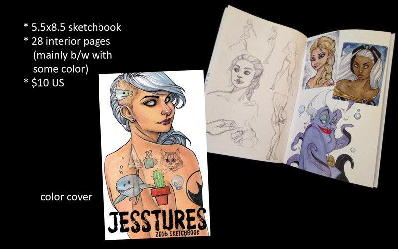 Image of Jesstures 2016 sketchbook