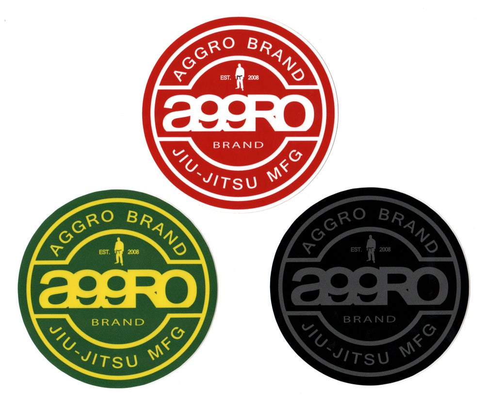 "Image of AGGRO Brand ""Circle Shield"" Sticker"