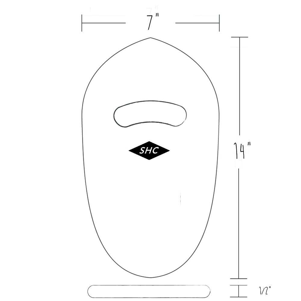 Image of HANDPLANE ROUNDED TAIL