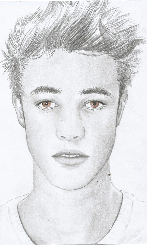 Image of Cameron Dallas, hand drawn portrait