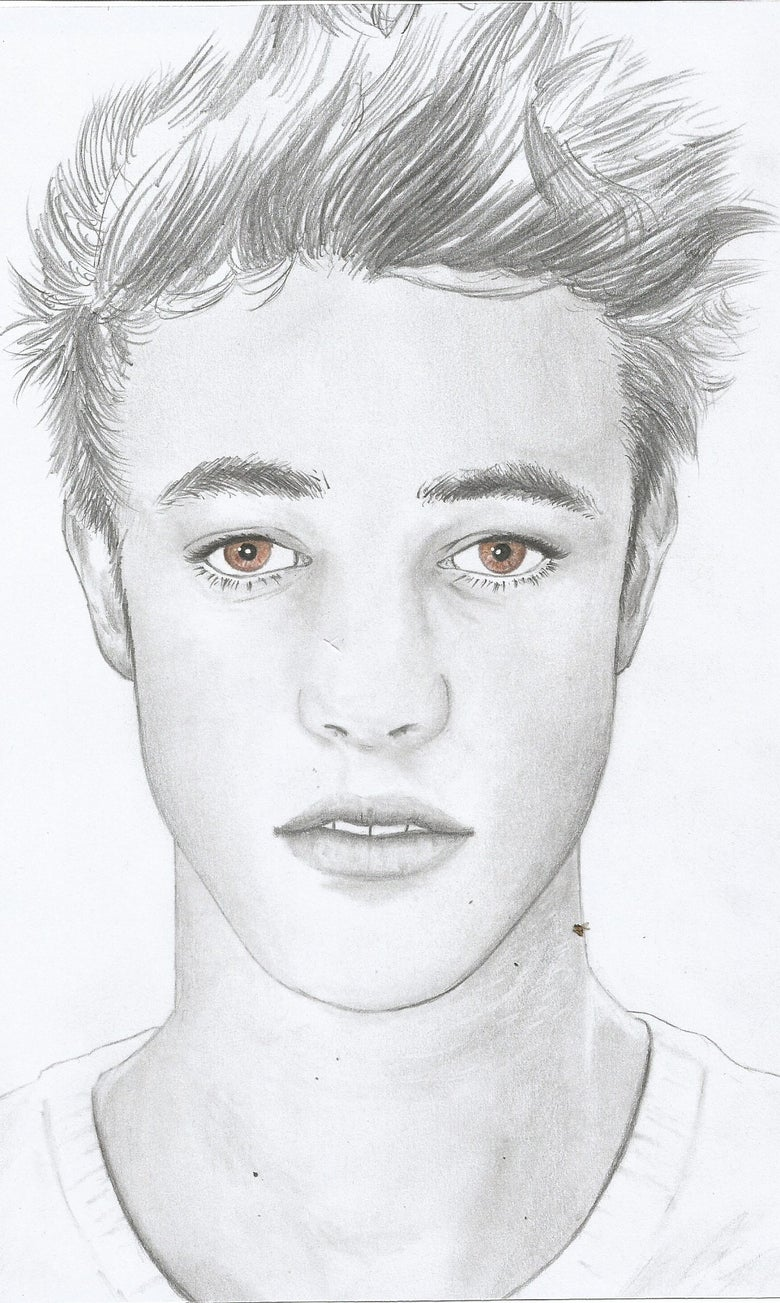 Image of Cameron Dallas, hand drawn portrait