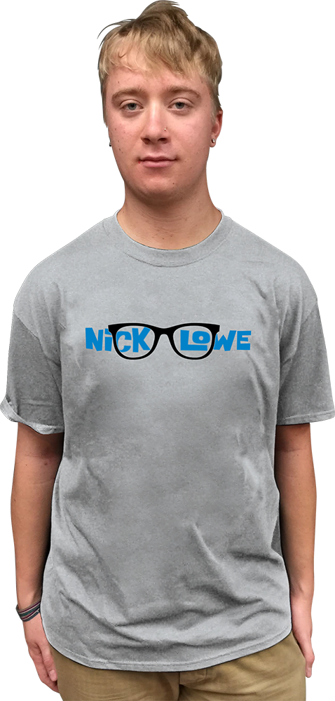 "Image of NICK LOWE ""GLASSES"" T-SHIRT"