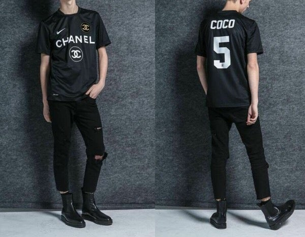 chanel jersey. image of black nike x chanel jersey