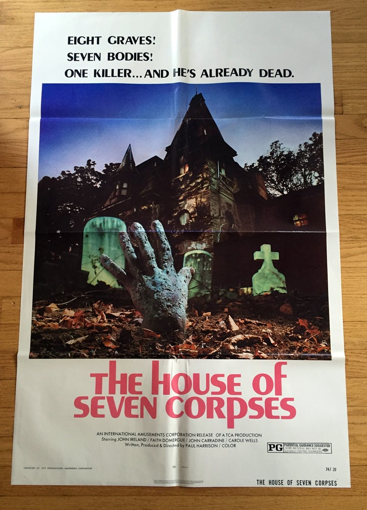 Image of 1974 THE HOUSE OF SEVEN CORPSES Original U.S. One Sheet Movie Poster
