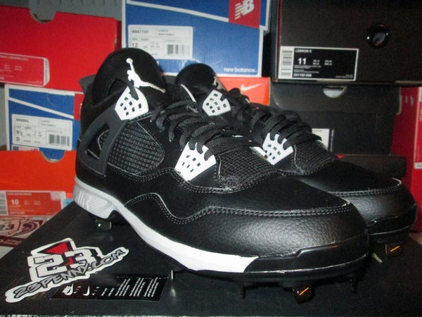 "Air Jordan IV (4) Retro Metal Cleat ""Blk/Tech Grey"" - FAMPRICE.COM by 23PENNY"