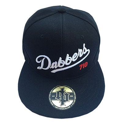 Image of Dirty Paper Los Angeles Dabber's Hat Baseball Cap Snapback Black