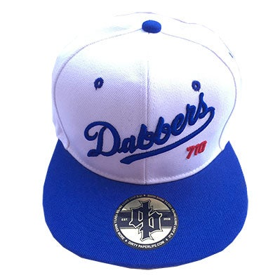 Image of Dirty Paper Los Angeles Dabber's Hat Baseball Cap Snapback White