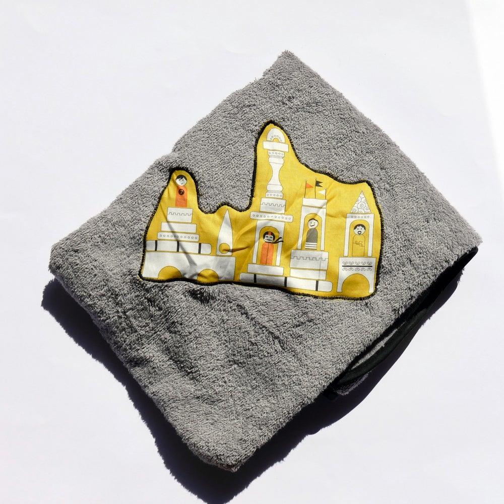 Image of Capes de bain bébé Grise/ Jeu de construction