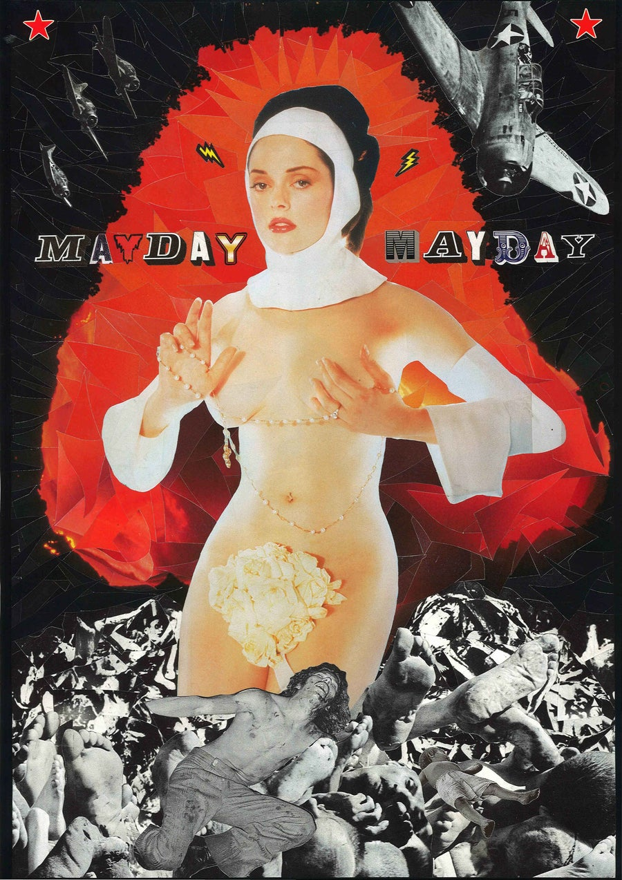 """Image of One foot in the grave """"May Day! May Day!"""""""