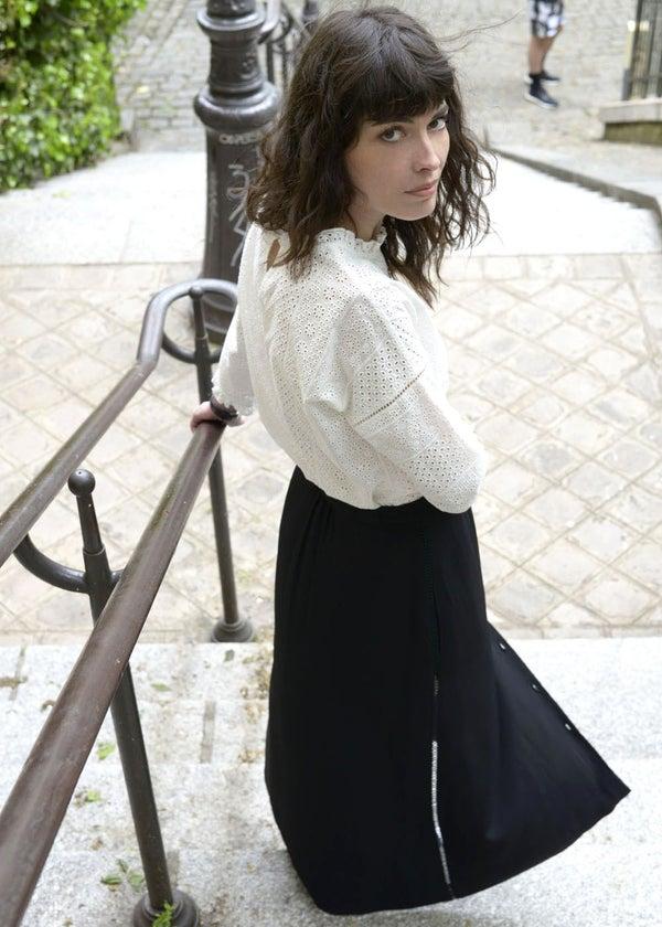 Jupe Hortense noire - Maison Brunet Paris