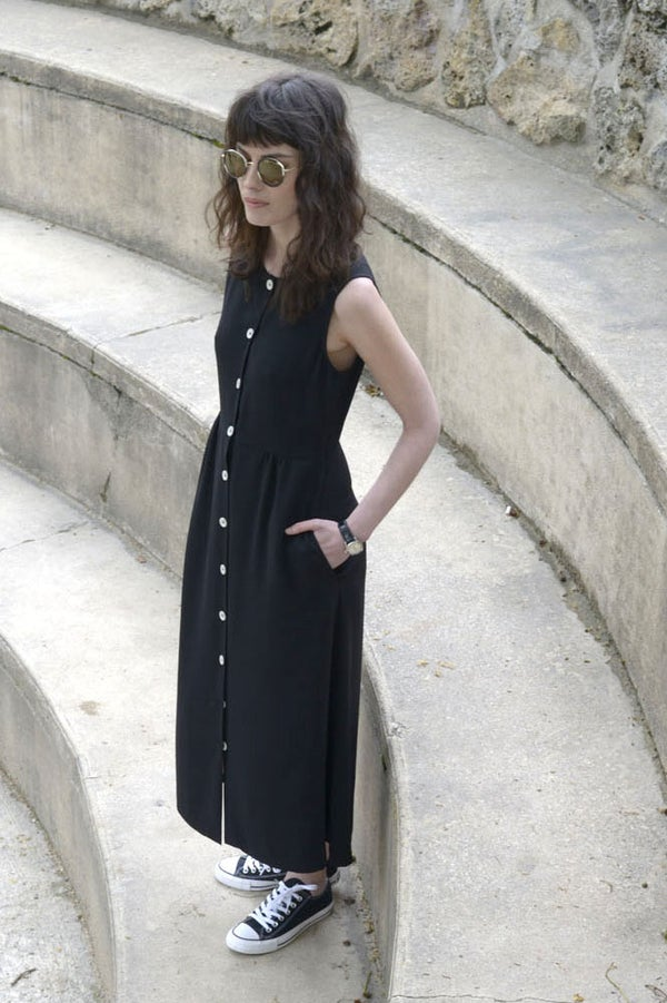 Robe Juliette noire - Maison Brunet Paris