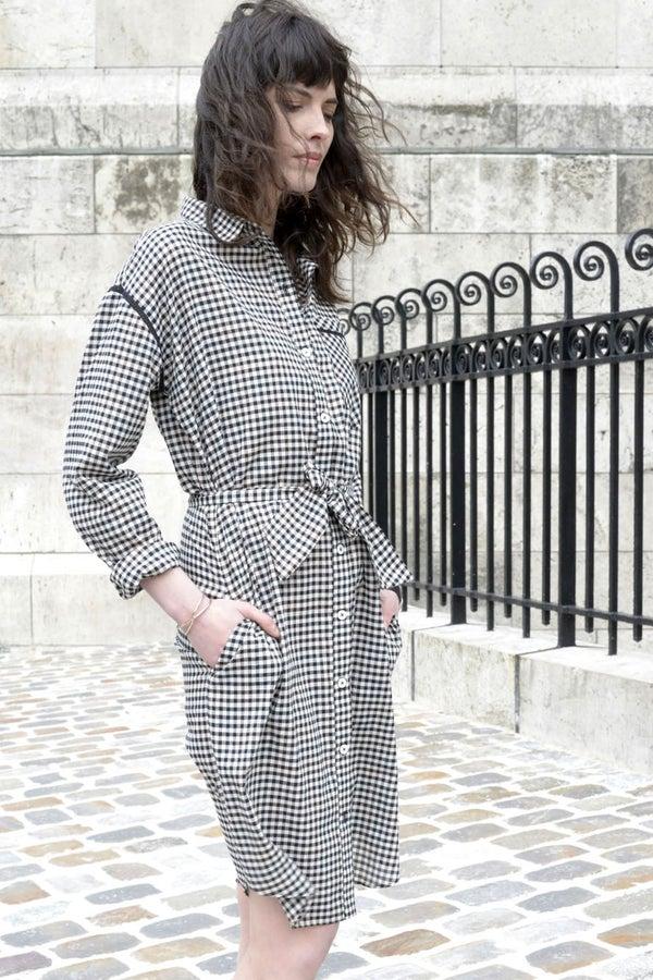 Robe chemise Andréa vichy - Maison Brunet Paris