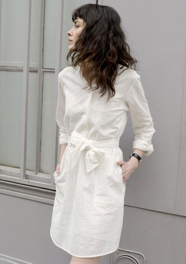 Robe chemise Cécile broderie anglaise - Maison Brunet Paris