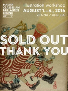 Image of SOLD OUT: 4 day illustration workshop in Vienna, Austria