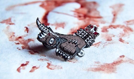 """Image of """"The Blade"""" hard enamel lapel pin"""