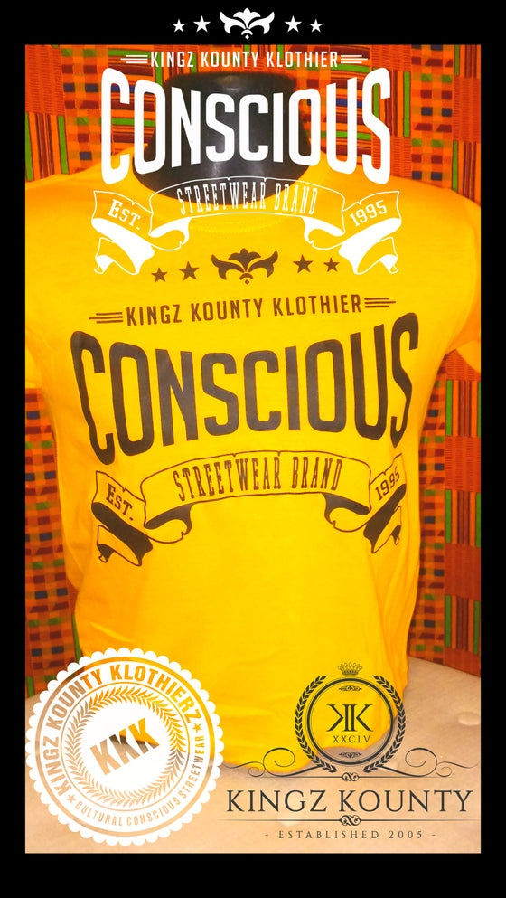 "Image of CHILDREN'S ""CONSCIOUS"" TSHIRT"