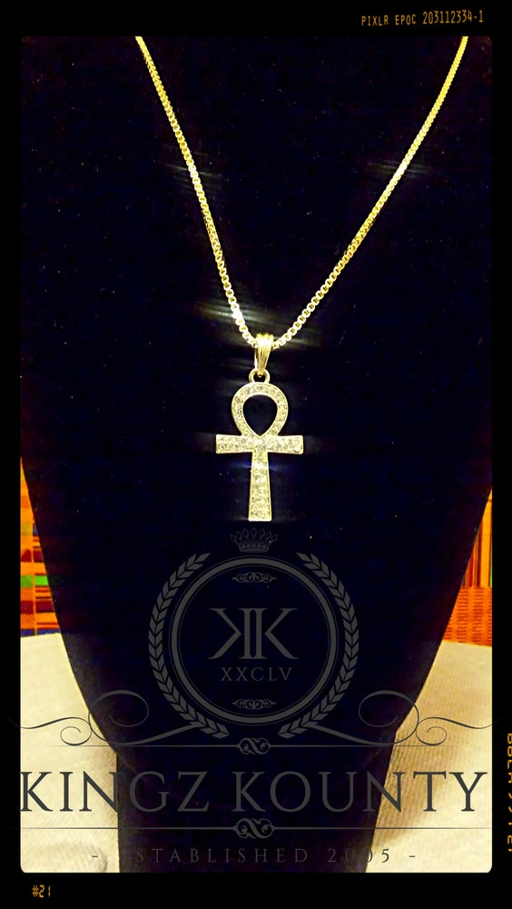 Image of ICED OUT AHNK NECKLACE