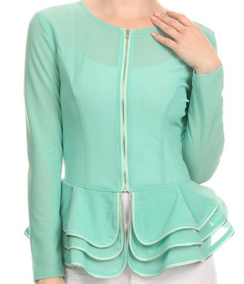 Image of Double Peplum Jacket