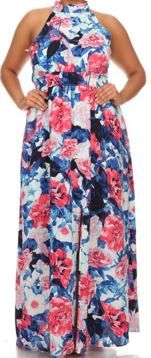 Image of Curvy-Floral Maxi
