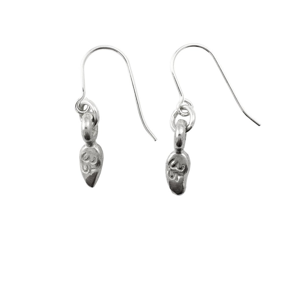 Image of Lotus Petal Necklace Om Earrings : Spiritual Enlightenment