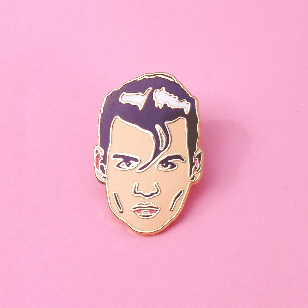 Image of Johnny Depp in Cry Baby Enamel Pin