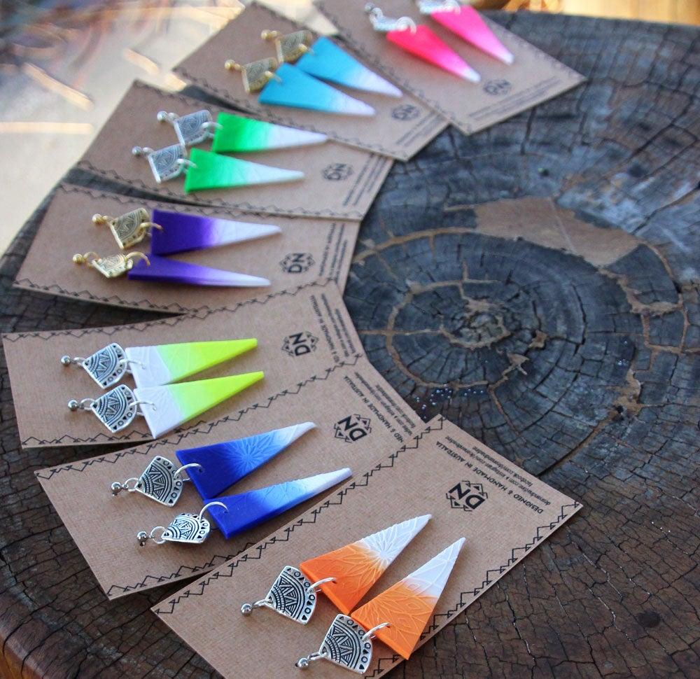 Image of Aztec Statement Earrings | Gradient