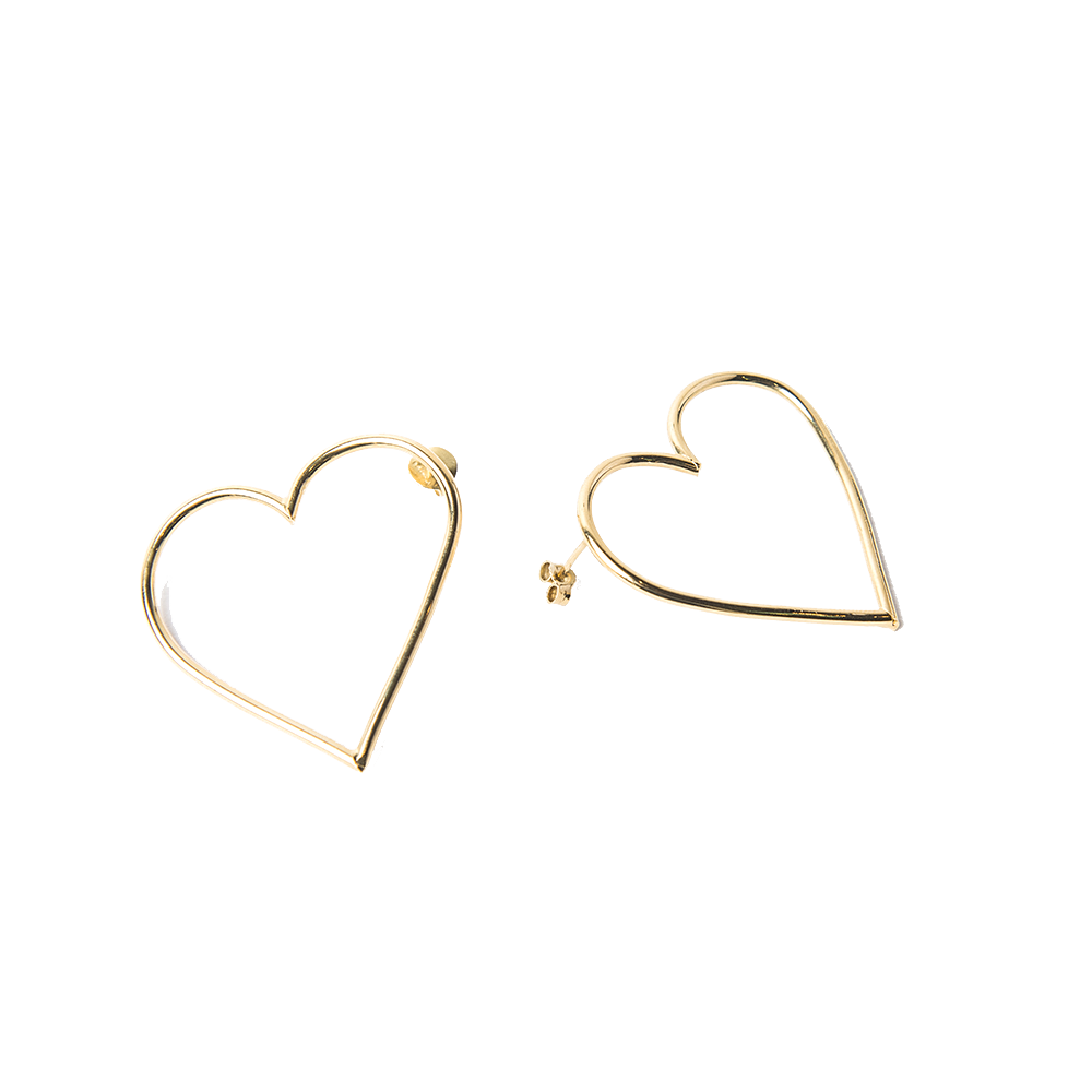Imagen de Broken Wire Heart earrings