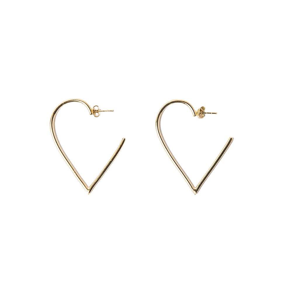 Detalle de Broken Broken Heart hoop earrings