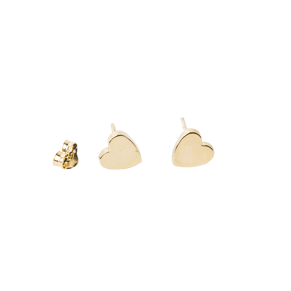 Imagen de Single Broken Filled Heart stud earring