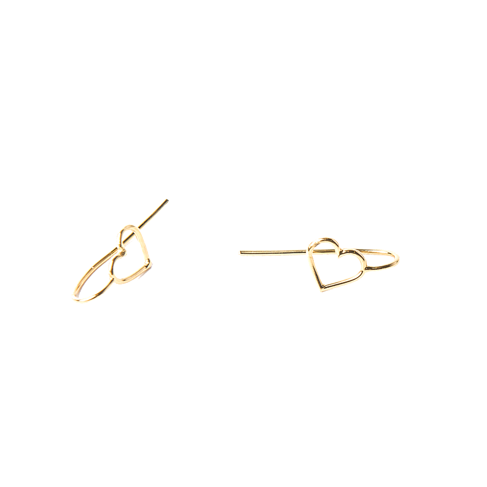 Detalle de Empty Heart nail earrings