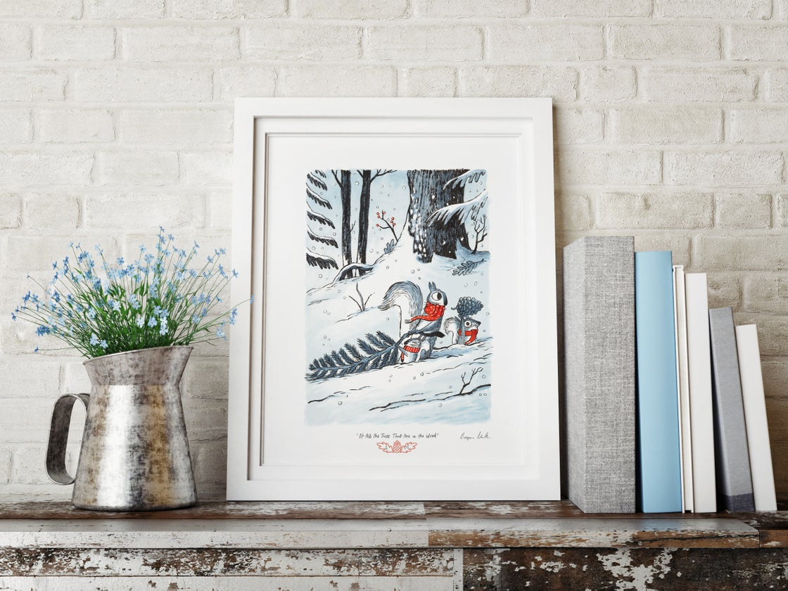 Image of 'Of All the Trees That Are in the Wood' - A3 ltd edition giclee print
