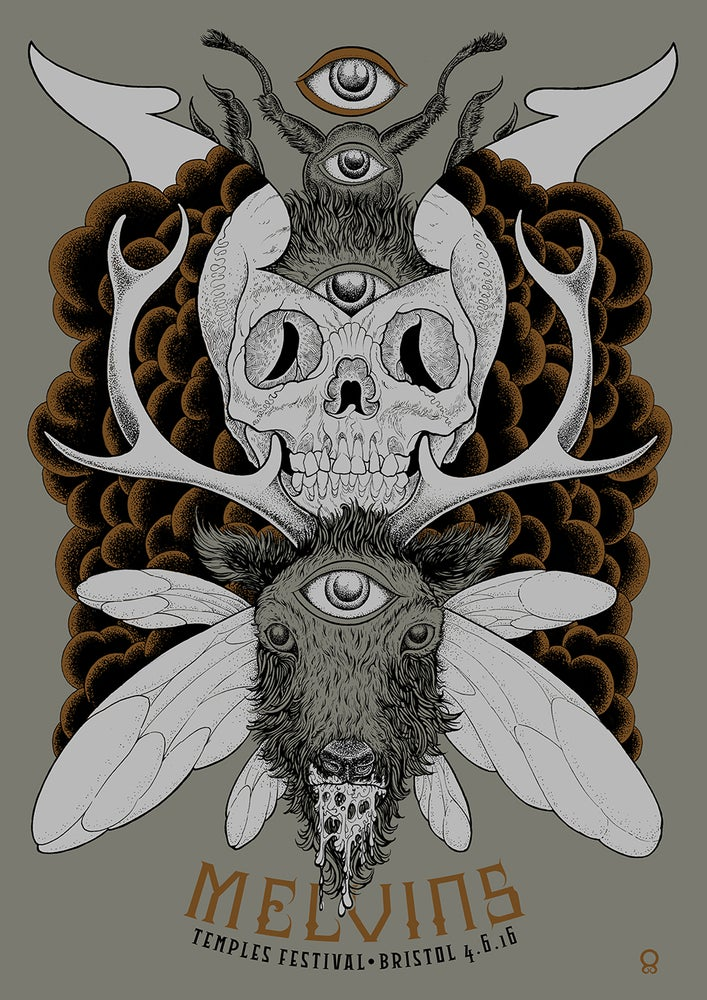 Image of Melvins Bristol Gig Poster 2016