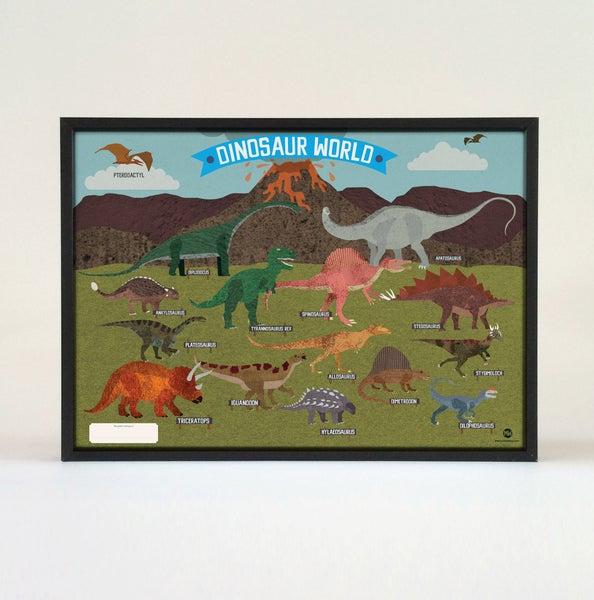 Image of Children Dinosaur Poster - 70cm x 50cm