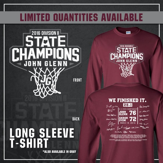 Image of John Glenn Muskies // 2016 State Champions (Long Sleeve T-Shirt)